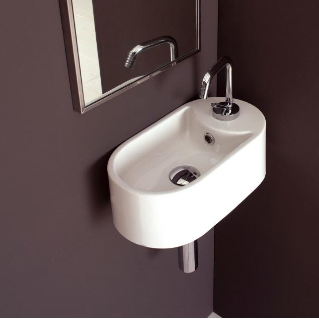 Lille håndvask oval