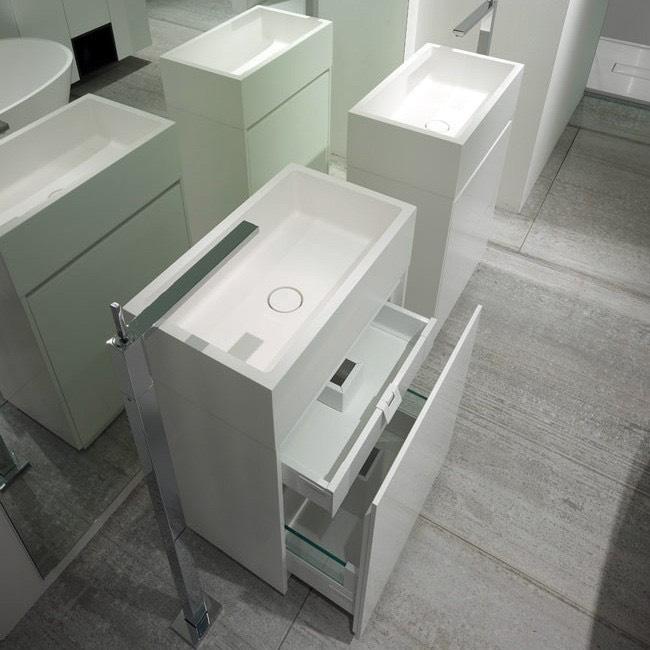 fritstående Håndvask i monolith