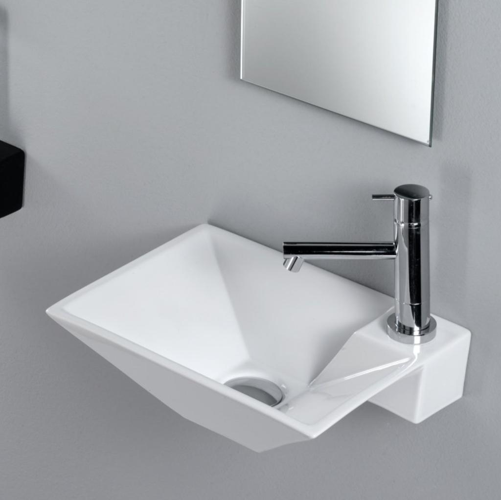 Lille håndvask til hjørne i flot design
