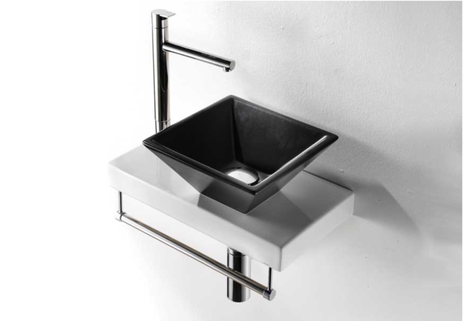 Lille håndvask på bordplade