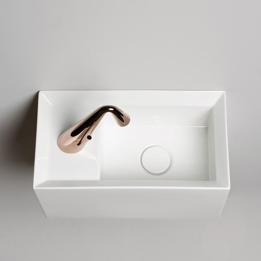 Lille hvid håndvask mini cut til at hænge på væg
