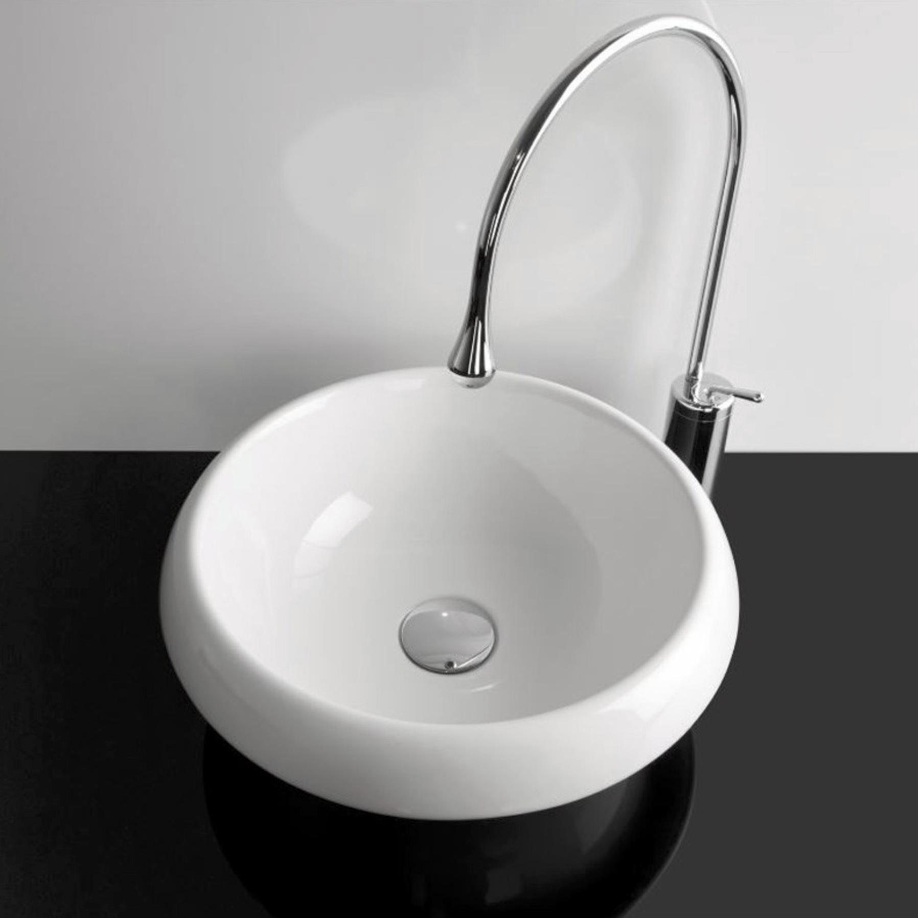 Lille rund håndvask til bordplade